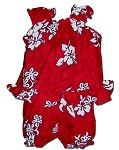 176-3156 Red Pacific Legend Infant Romper Set